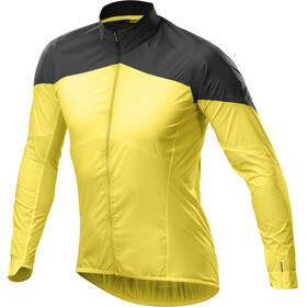 Mavic Cosmic Wind Cykeljakke Herrer, yellow mavic/black